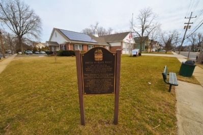 Battle of Black Point Marker in front of the River Road Firehouse image. Click for full size.