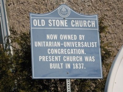 Old Stone Church Marker image. Click for full size.