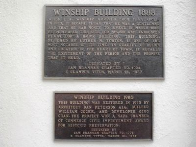 Winship Building 1888 Marker image. Click for full size.