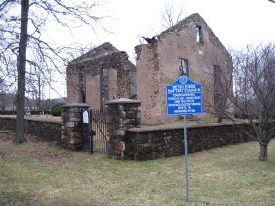 Bethlehem Baptist Church and Marker image. Click for full size.