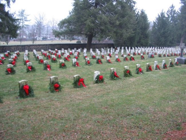 Grave-sites Adorned for Christmas image. Click for full size.