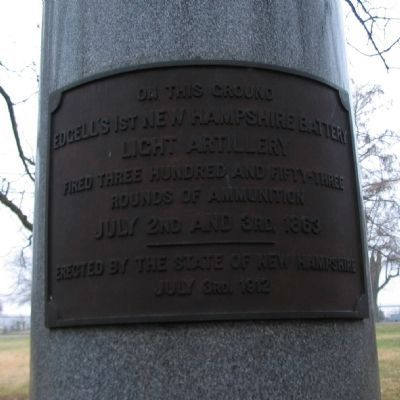 1st New Hampshire Battery Monument Photo, Click for full size