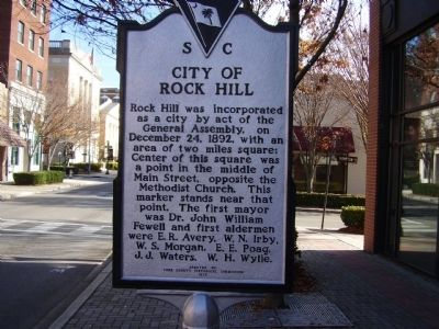 City of Rock Hill Marker Photo, Click for full size
