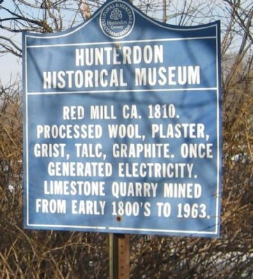 Hunterdon Historical Museum Marker image. Click for full size.