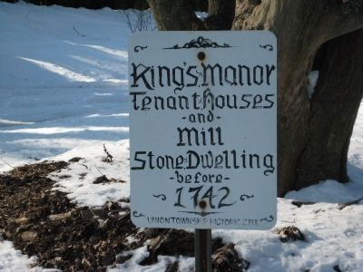 King's Manor Marker Photo, Click for full size