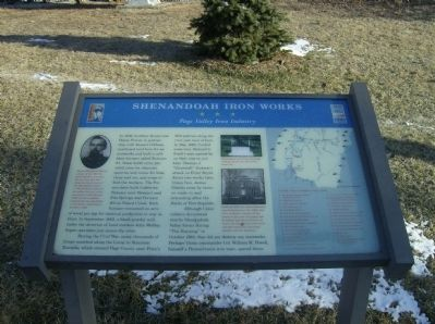 Shenandoah Iron Works Marker Photo, Click for full size