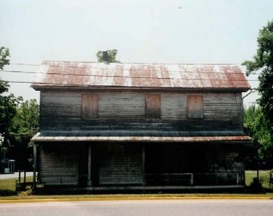 Contemporary photo of the old Conrad's Store building Photo, Click for full size