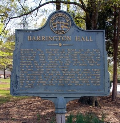 Barrington Hall Marker image. Click for full size.
