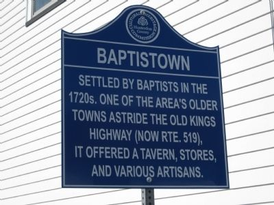 Baptistown Marker Photo, Click for full size