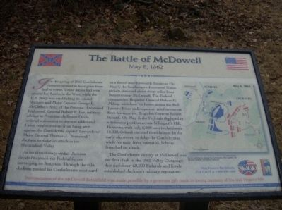 The Battle of McDowell Marker image. Click for full size.