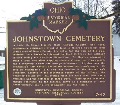 Johnstown Cemetery (Side A) image. Click for full size.