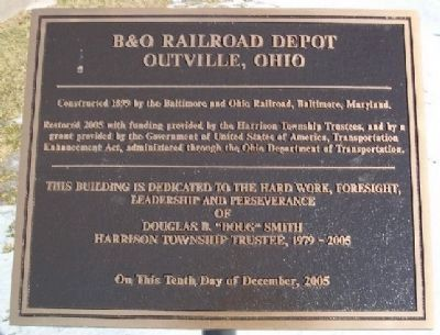 B&O Railroad Depot Marker image. Click for full size.