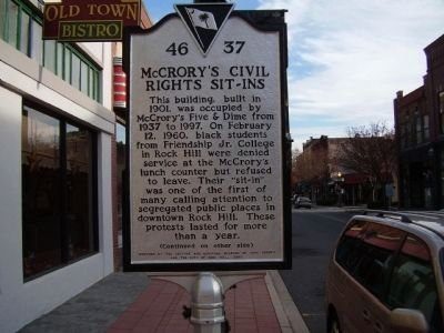McCrory's Civil Rights Sit-ins Marker image. Click for full size.