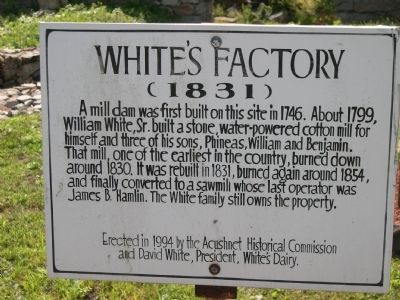 White's Factory Marker Photo, Click for full size