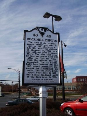 Rock Hill Depots Marker Photo, Click for full size