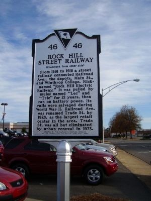 Rock Hill Street Railway Marker Photo, Click for full size