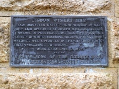 Lisbon Winery 1882 Marker Photo, Click for full size