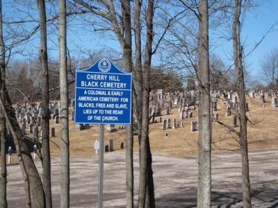 Cherry Hill Black Cemetery Marker image. Click for full size.