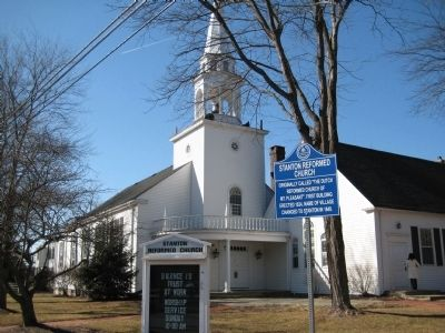 Stanton Reformed Church and Marker image. Click for full size.