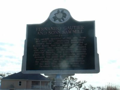 Fernando Gautier and Sons Sawmill Marker image. Click for full size.