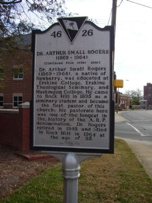 Dr. Arthur Small Rogers Marker image. Click for full size.