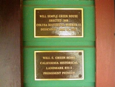 Will Semple Green House Marker Photo, Click for full size