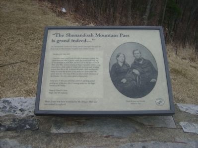 """The Shenandoah Mountain Pass is grand indeed…"" Marker image. Click for full size."