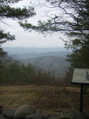 "View toward the west from the ""... tolerable well fortified"" Marker image. Click for full size."