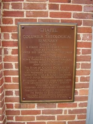 Chapel of Columbia Theological Seminary image. Click for full size.