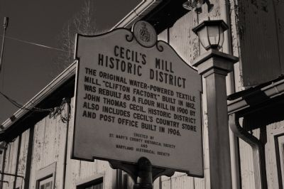 Cecil's Mill Historic District Marker image. Click for full size.