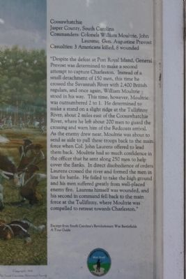 Battle of Coosawhatchie Marker, the summary Photo, Click for full size