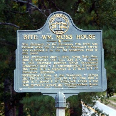 Site: Wm. Moss House Marker image. Click for full size.
