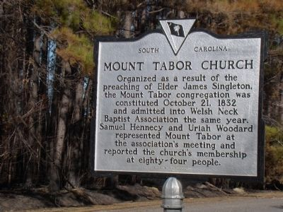 Mount Tabor Church Marker image. Click for full size.