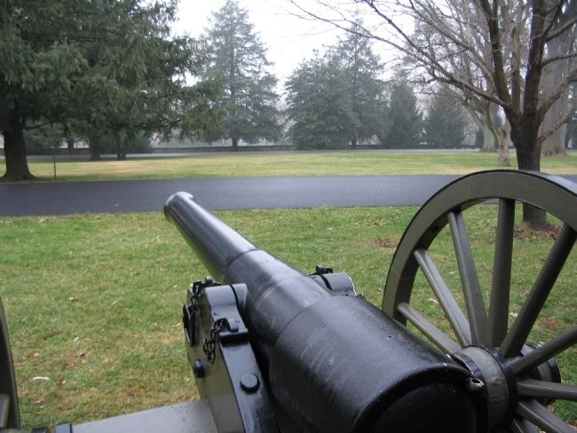 View of the Cemetery Grounds from a Parrott Rifle image. Click for full size.