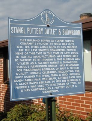 Stangl Pottery Outlet & Showroom Marker Photo, Click for full size
