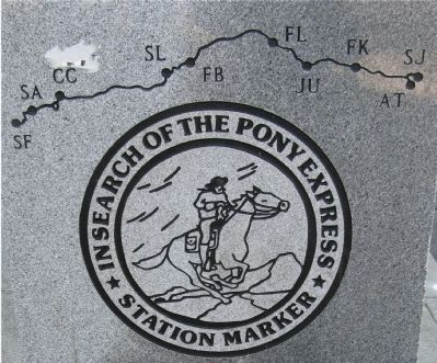 Close-Up of Pony Express Trails Artwork image. Click for full size.