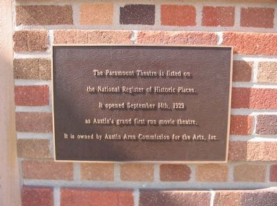 The Paramount Theatre Marker Photo, Click for full size