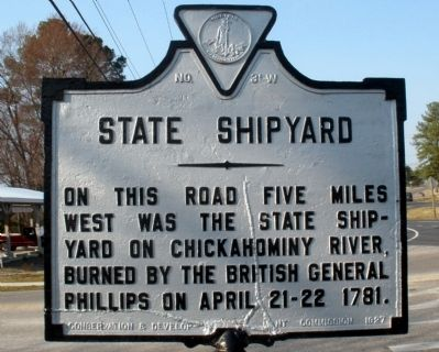 State Shipyard Marker image. Click for full size.