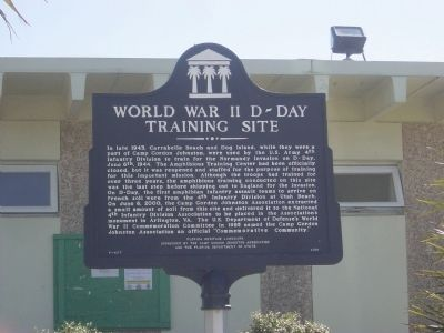World War II D-Day Training Site Marker Photo, Click for full size
