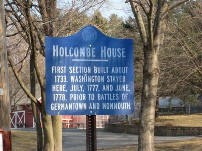 Holcombe House Marker Photo, Click for full size