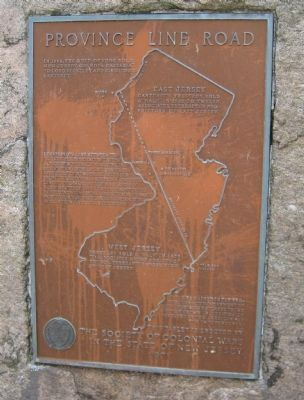 Province Line Road Marker Photo, Click for full size