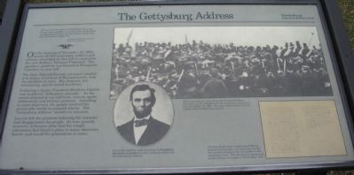 The Gettysburg Address Marker image. Click for full size.