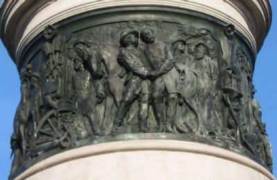 Front or South Bronze Relief image. Click for full size.