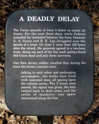 A Deadly Delay Marker Photo, Click for full size