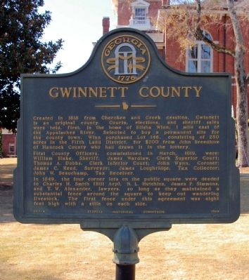 Gwinnett County Marker Photo, Click for full size