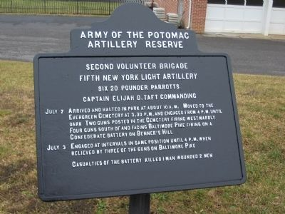 Fifth New York Light Artillery Tablet Photo, Click for full size