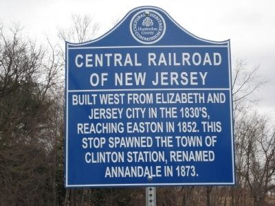 Central Railroad Of New Jersey Marker image. Click for full size.