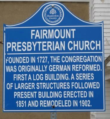 Fairmount Presbyterian Church Marker image. Click for full size.