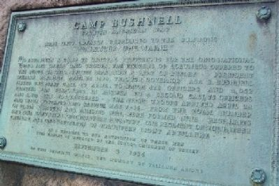 Camp Bushnell Marker image. Click for full size.