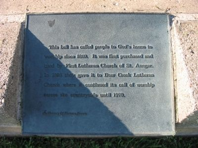 Deer Creek Lutheran Church Bell Marker Photo, Click for full size